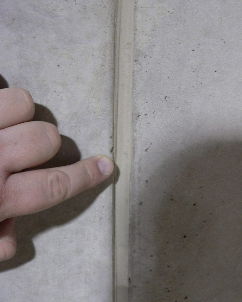 Close the gaps with silicone caulk
