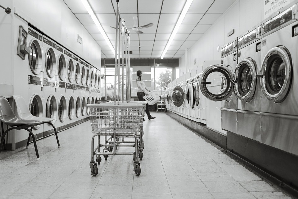 Laundry Saloon, Laundry, Person, Washing Machines